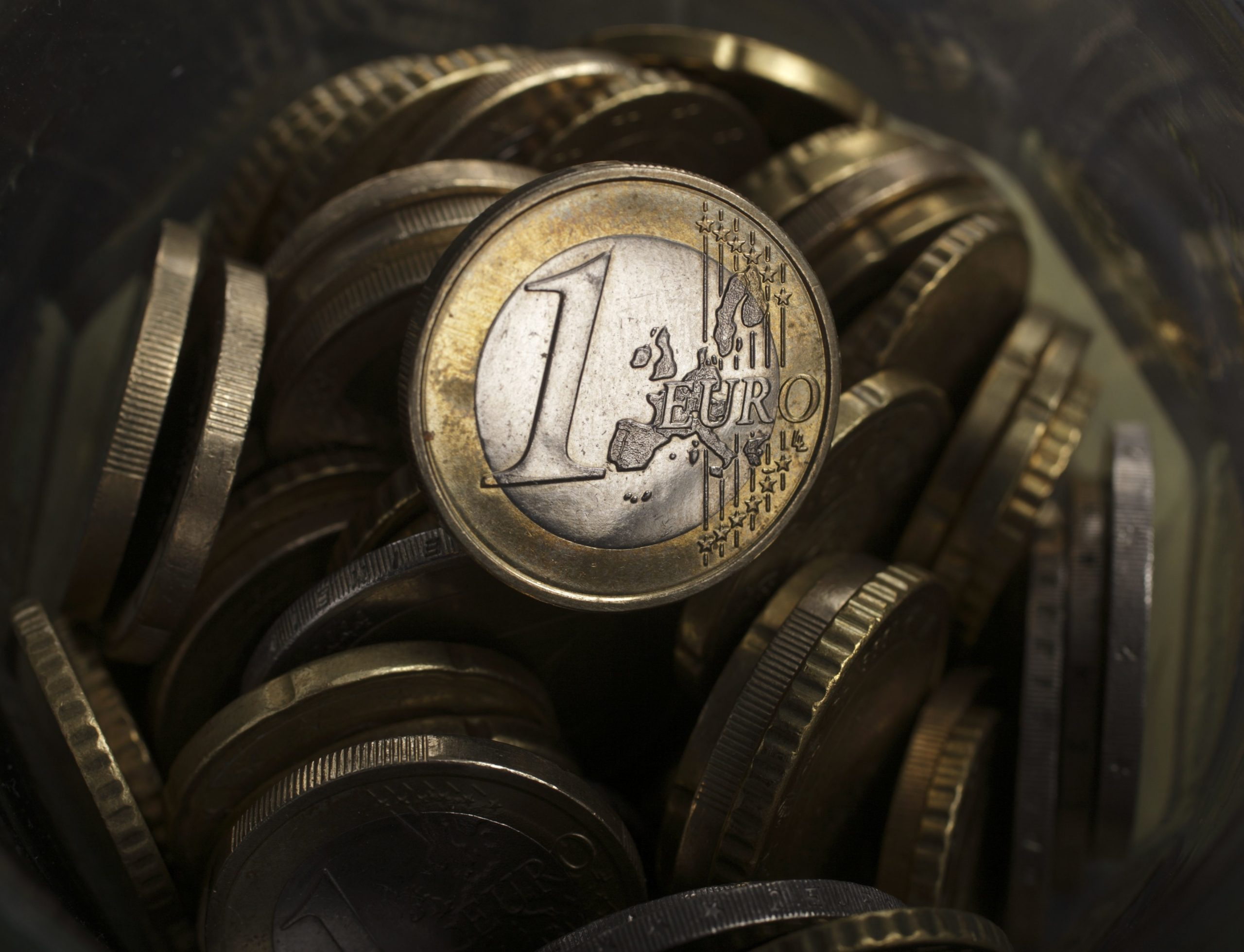 A picture illustration taken in Warsaw shows a one euro coin